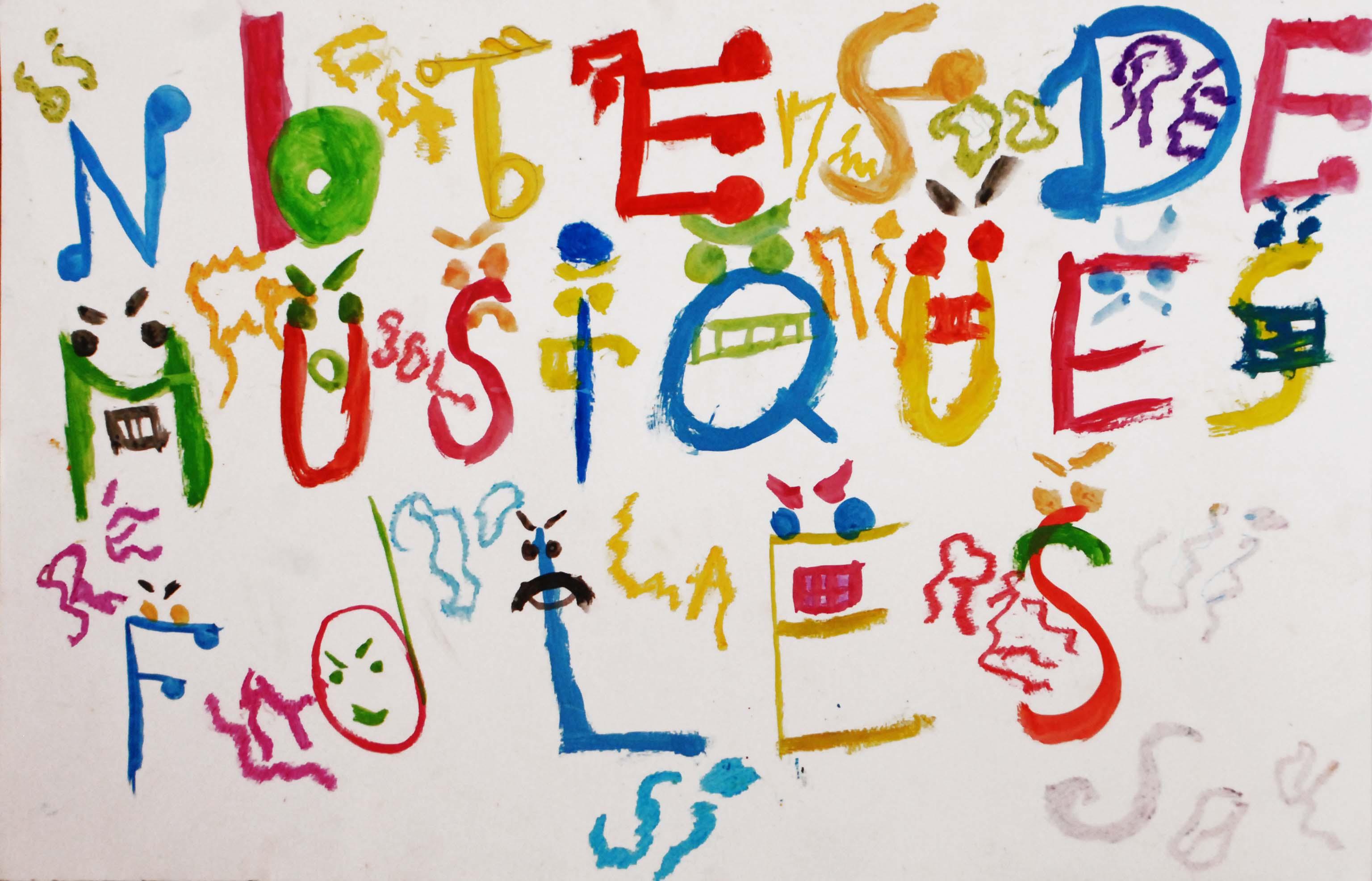 Les notes de musique folles (Ecole Lakanal)